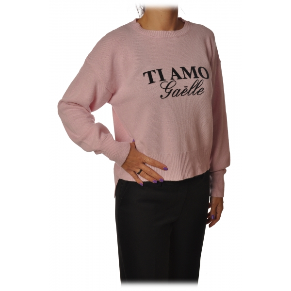 Gaëlle Paris - Pullover Girocollo Manica Lunga - Rosa - Maglione - Made in Italy - Luxury Exclusive Collection