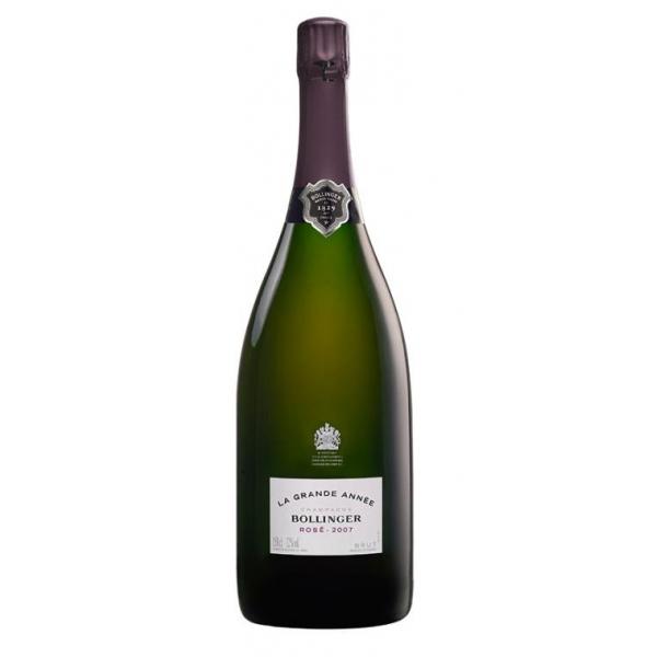 Bollinger Champagne - La Grande Année Rosè Magnum Champagne - 2007 - Pinot Noir - Luxury Limited Edition - 1,5 l