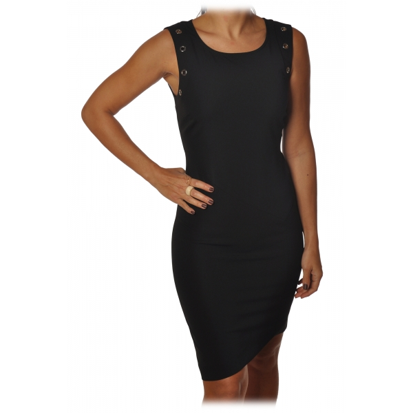 Elisabetta Franchi - Sleeveless Sheath Model - Black - Dress - Made in Italy - Luxury Exclusive Collection