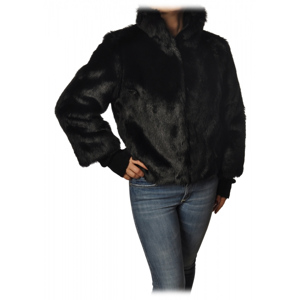 Elisabetta Franchi - Jacket Short Fur - Black - Jacket - Made in Italy - Luxury Exclusive Collection