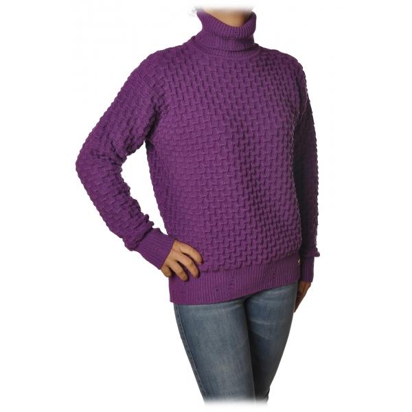 Pinko - Pullover Nuvolosita Collo Alto Manica Lunga - Viola - Maglione - Made in Italy - Luxury Exclusive Collection