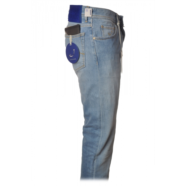 Jacob Cohën - 5 Pockets Jeans Straight Leg - Light Denim - Trousers - Made in Italy - Luxury Exclusive Collection