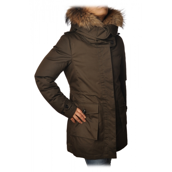 Woolrich - Piumino Parka Scarlett - Verde Militare- Giacca - Luxury Exclusive Collection