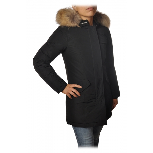 Woolrich -  Arctic Parka Luxury Pelliccia Racoon - Nero - Giacca - Luxury Exclusive Collection