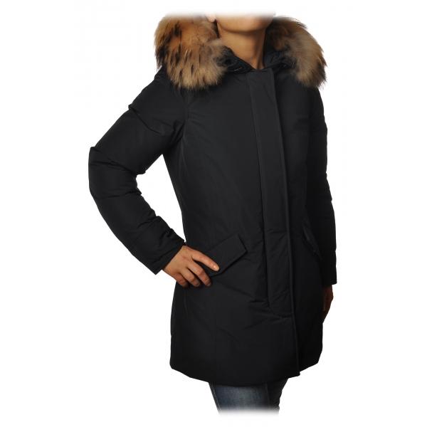 Woolrich -  Arctic Parka con Cappuccio più Pelliccia a Contrasto di Colore - Blu - Giacca - Luxury Exclusive Collection