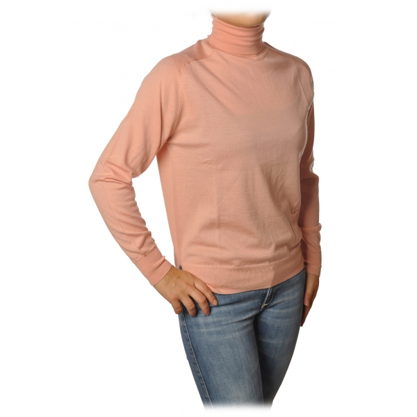 Elisabetta Franchi - High Neck Pullover - Antique Pink - Sweater - Made in Italy - Luxury Exclusive Collection