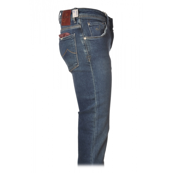Jacob Cohën - 5 Pockets Jeans Slim Fit - Medium Denim - Trousers - Made in Italy - Luxury Exclusive Collection