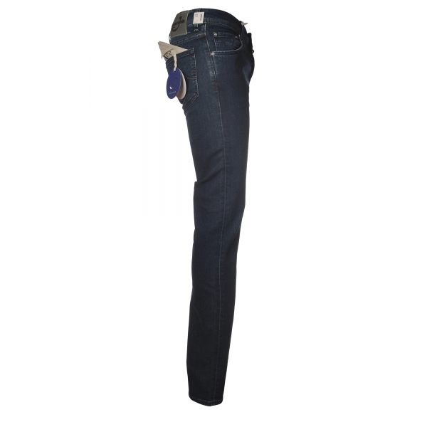 Jacob Cohën - 5 Pockets Jeans Slim Fit - Dark Denim - Trousers - Made in Italy - Luxury Exclusive Collection