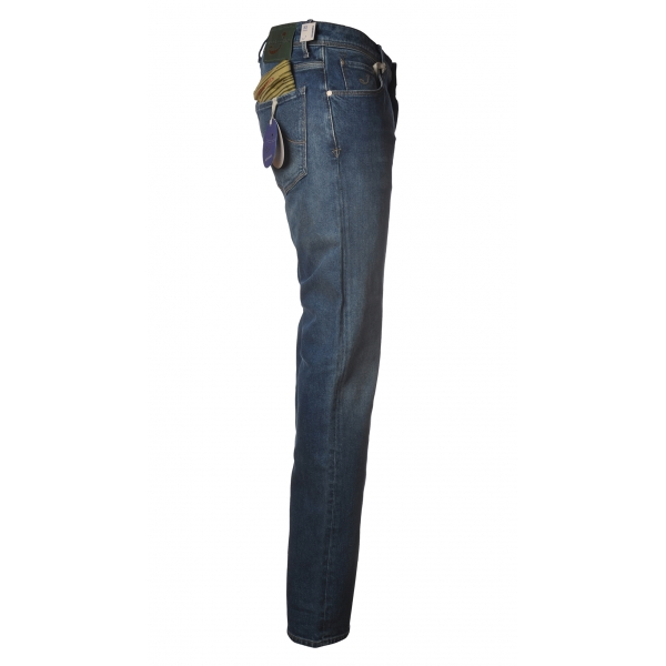 Jacob Cohën - 5 Pocket Jeans Slim Fit - Medium Denim - Trousers - Made in Italy - Luxury Exclusive Collection