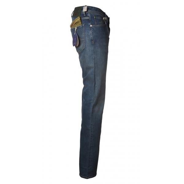 Jacob Cohën - Jeans 5 tasche Slim Fit - Denim Medio-Chiaro - Pantaloni - Made in Italy - Luxury Exclusive Collection