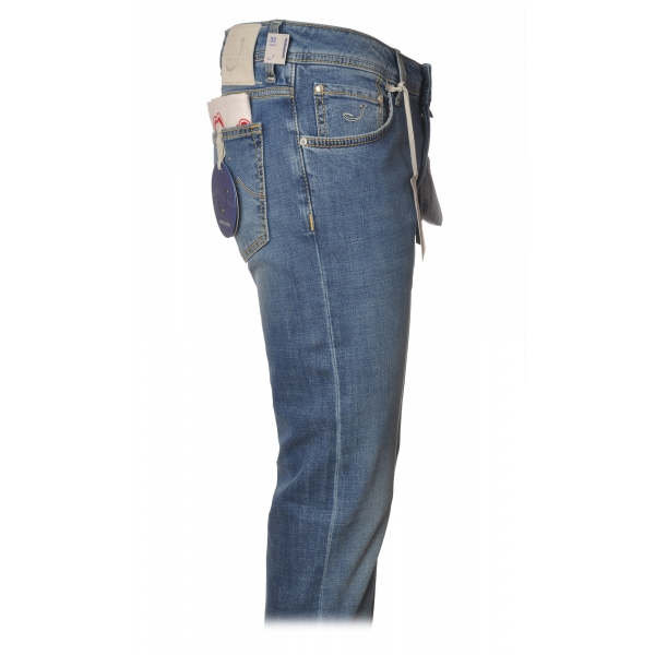 Jacob Cohën - Jeans 5 tasche Gamba Dritta - Denim Azzurro Chiaro - Pantaloni - Made in Italy - Luxury Exclusive Collection