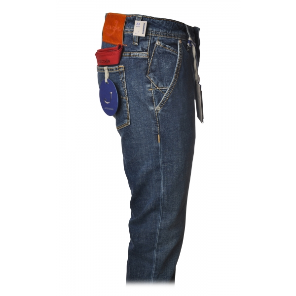 Jacob Cohën - Jeans Chinos Slim Fit - Denim - Pantaloni - Made in Italy - Luxury Exclusive Collection