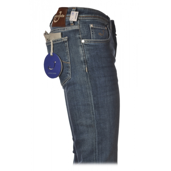 Jacob Cohën - 5 Pockets Jeans Straight Leg - Medium-Light Denim - Trousers - Made in Italy - Luxury Exclusive Collection