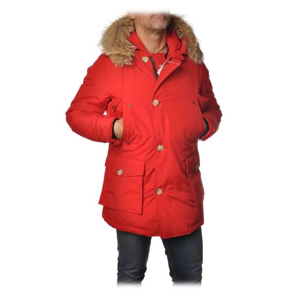 Woolrich -  Arctic Parka Con Pelliccia Removibile - Rosso - Giacca - Luxury Exclusive Collection