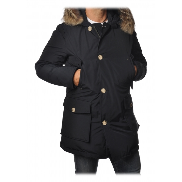 Woolrich - Arctic Parka with Detachable Fur - Blue - Jacket - Luxury Exclusive Collection