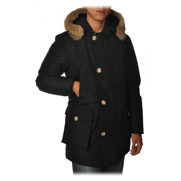 Woolrich - Long Artic Parka DF with Fur-trimmed Hood- Black - Jacket - Luxury Exclusive Collection