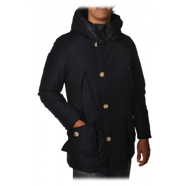 Woolrich - Artic Parka NF with Visible Contrast Buttons - Blue - Jacket - Luxury Exclusive Collection