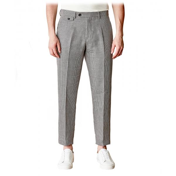 Cruna - Pantalone Raval in Lana e Lino - 557 - Moro - Handmade in Italy - Pantaloni di Alta Qualità Luxury
