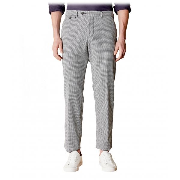 Cruna - Pantalone Raval in Fresco Lana - 562 - Grigio Medio - Handmade in Italy - Pantaloni di Alta Qualità Luxury