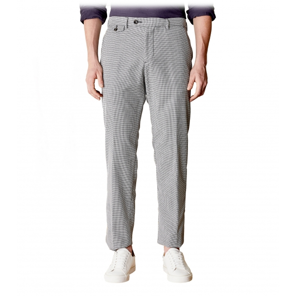 Cruna - Raval Trousers in Fresh Wool - 562 - Medium Grey - Handmade in Italy - Luxury High Quality Pants