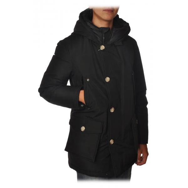 Woolrich -  Artic Parka NF con Bottoni di Contrasto a Vista - Nero - Giacca - Luxury Exclusive Collection