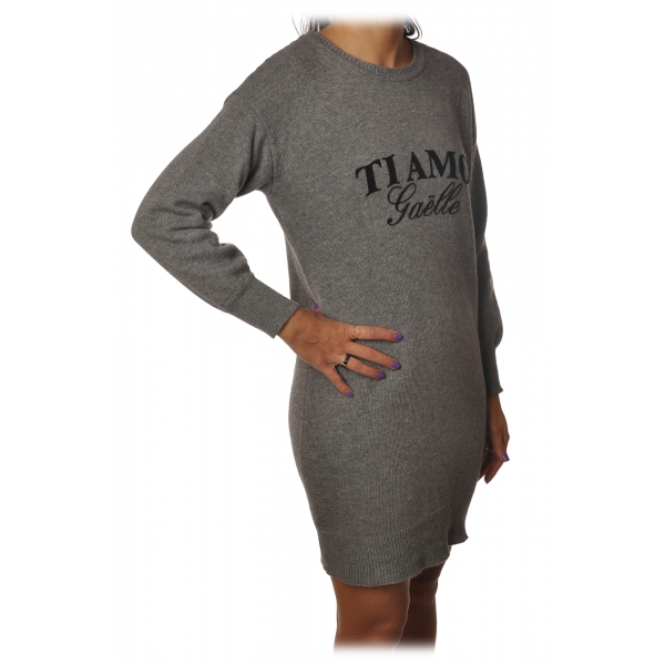 Gaëlle Paris - Dress with Long Sleeve - Gray - Dress - Made in Italy - Luxury Exclusive Collection