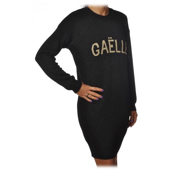 Gaëlle Paris - Abito Girocollo con Maniche Lunghe - Nero - Abito - Made in Italy - Luxury Exclusive Collection