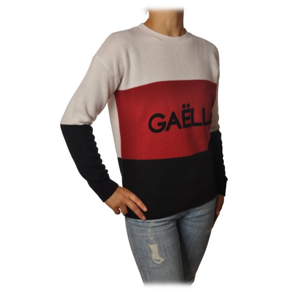 Gaëlle Paris - Long Sleeve Crewneck Pullover - Black - Sweater - Made in Italy - Luxury Exclusive Collection
