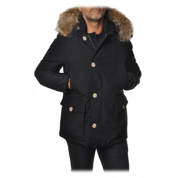 Woolrich - Artic Anorak Parka  with Fur-trimmed Hood - Blue - Jacket - Luxury Exclusive Collection