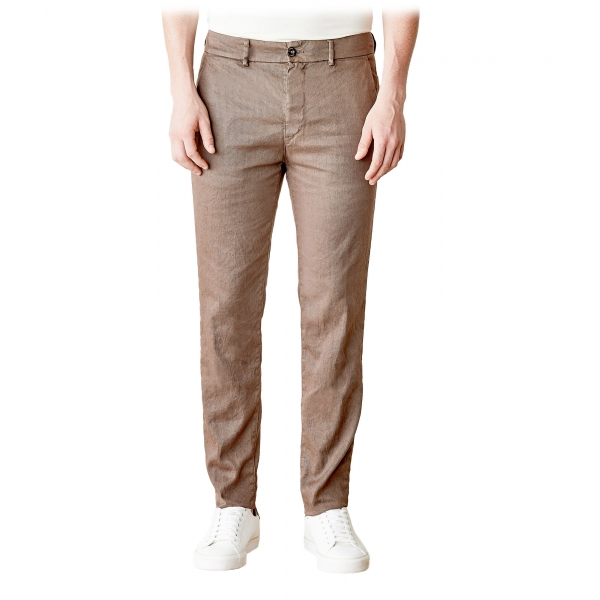 Cruna - Marais Trousers in Linen - 540 - Moro - Handmade in Italy - Luxury High Quality Pants