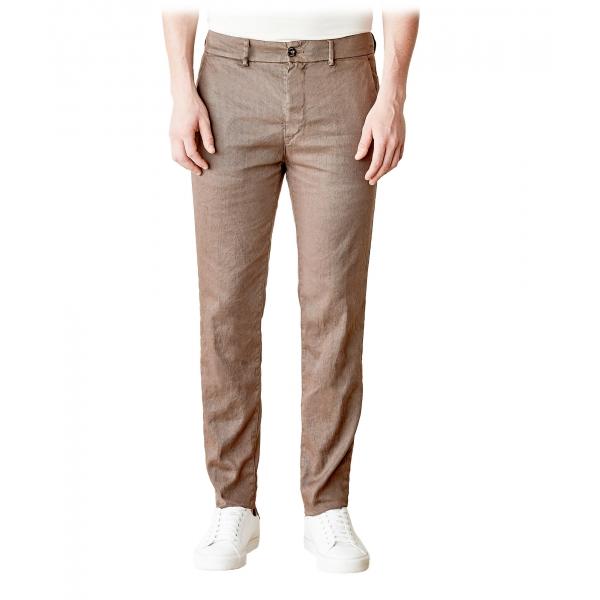 Cruna - Pantalone Marais in Lino - 540 - Moro - Handmade in Italy - Pantaloni di Alta Qualità Luxury