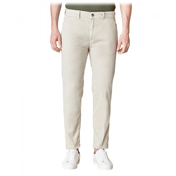 Cruna - Pantalone Marais in Lino - 540 - ECRU - Handmade in Italy - Pantaloni di Alta Qualità Luxury