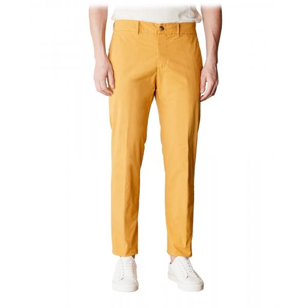 Cruna - Pantalone Marais in Cotone - 511 - Senape - Handmade in Italy - Pantaloni di Alta Qualità Luxury