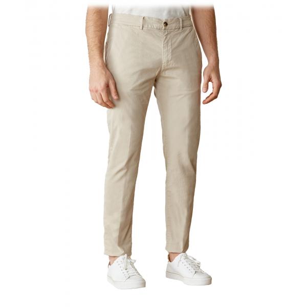 Cruna - Pantalone Marais in Cotone - 510 - ECRU - Handmade in Italy - Pantaloni di Alta Qualità Luxury