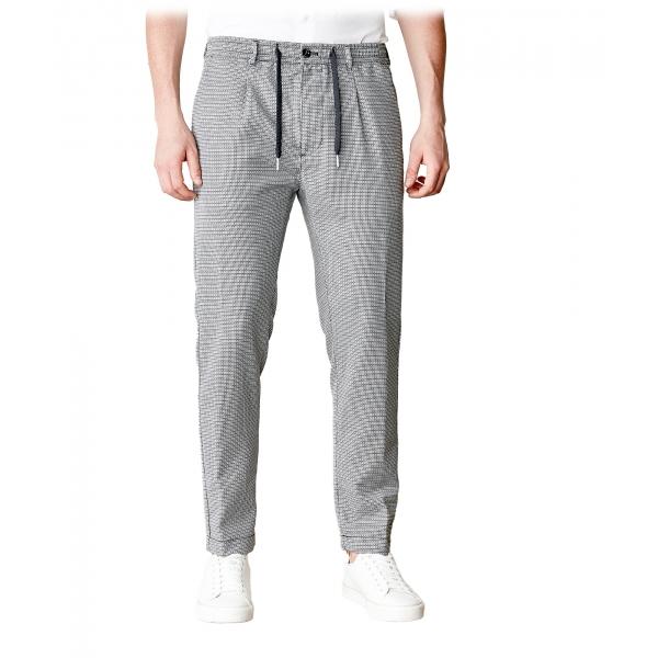 Cruna - Pantalone Mitte in Fresco Lana - 562 - Grigio Medio - Handmade in Italy - Pantaloni di Alta Qualità Luxury