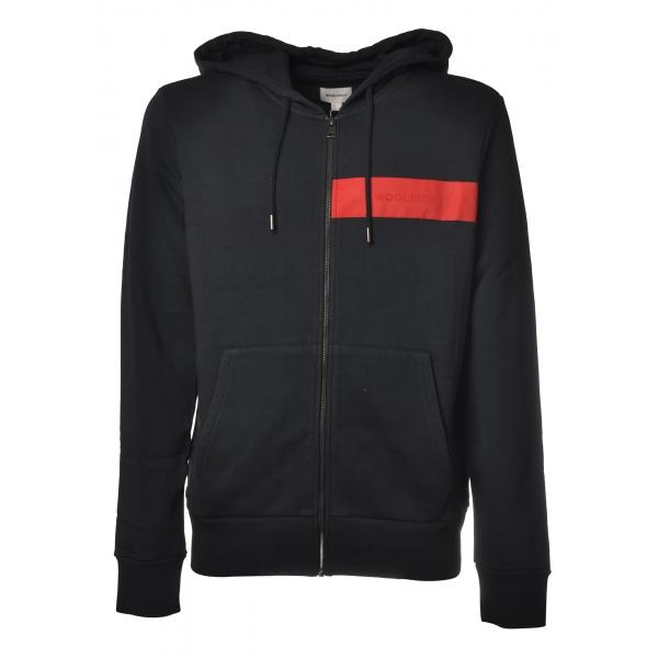 Woolrich - Luxury Fleece FZ Hooded Sweatshirt - Blue - Sweatshirt - Luxury Exclusive Collection