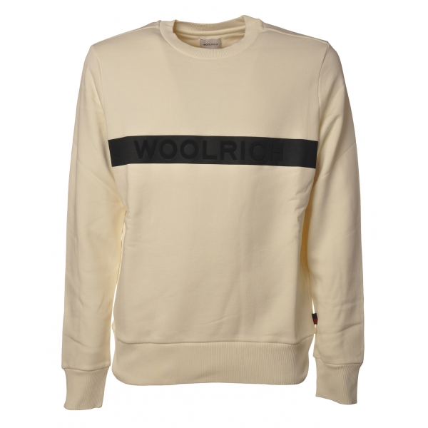 Woolrich -  Felpa Girocollo Fleece - Panna - Pullover - Luxury Exclusive Collection