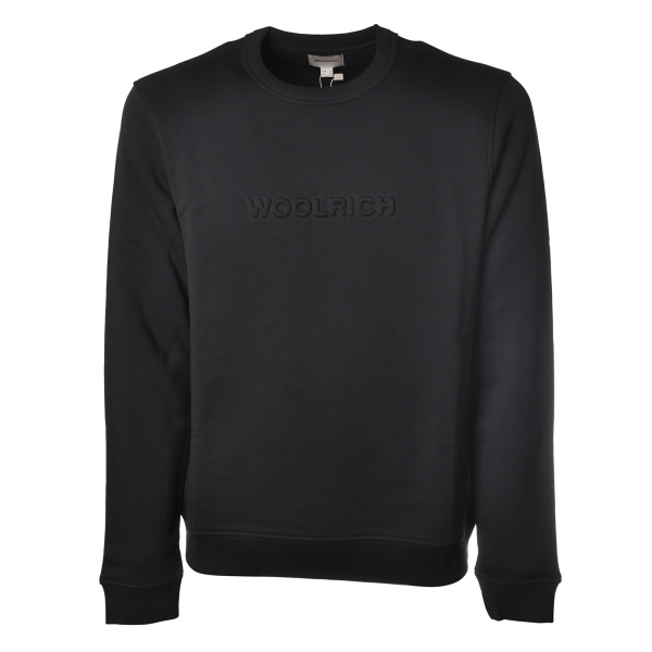 Woolrich -  Felpa Girocollo con Manica Lunga - Blu - Luxury Exclusive Collection