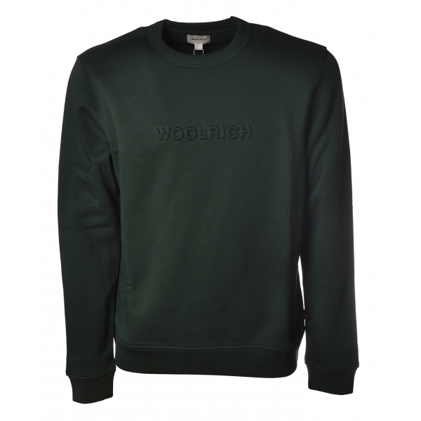 Woolrich -  Felpa Girocollo a Manica Lunga - Verde - Luxury Exclusive Collection