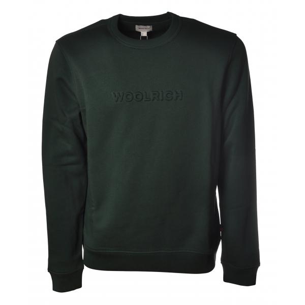 Woolrich - Long Sleeve Crewneck Sweatshirt - Green - Luxury Exclusive Collection