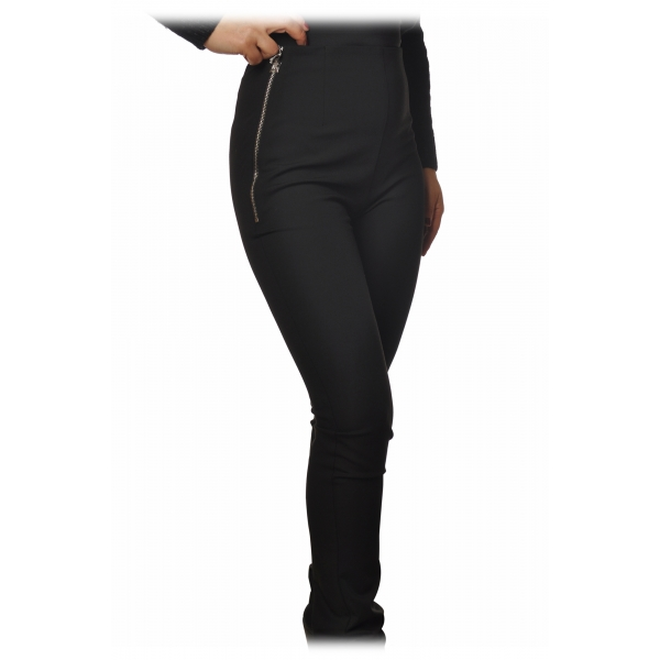 Patrizia Pepe - High Waist Straight Leg Trousers - Black - Trousers - Made in Italy - Luxury Exclusive Collection