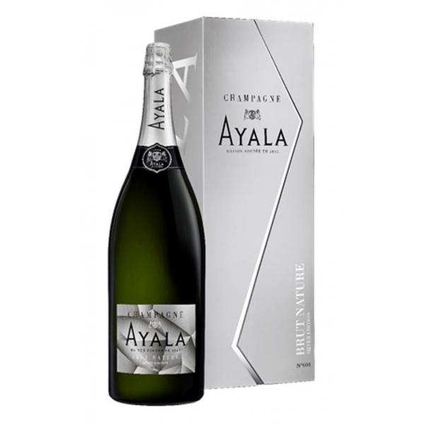 Champagne Ayala - Brut Nature Ayala Silver Edition - Jeroboam - Box - Pinot Noir - Luxury Limited Edition - 3 l
