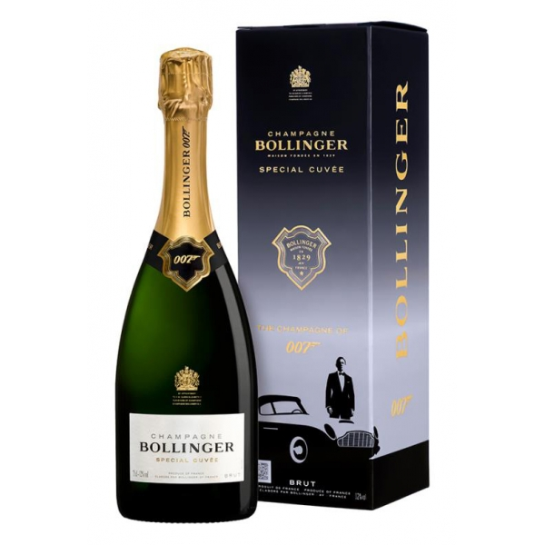 Bollinger Champagne - Special Cuvée Champagne - 007 - James Bond - Official Limited Edition - Box - Pinot Noir - Luxury - 750 ml