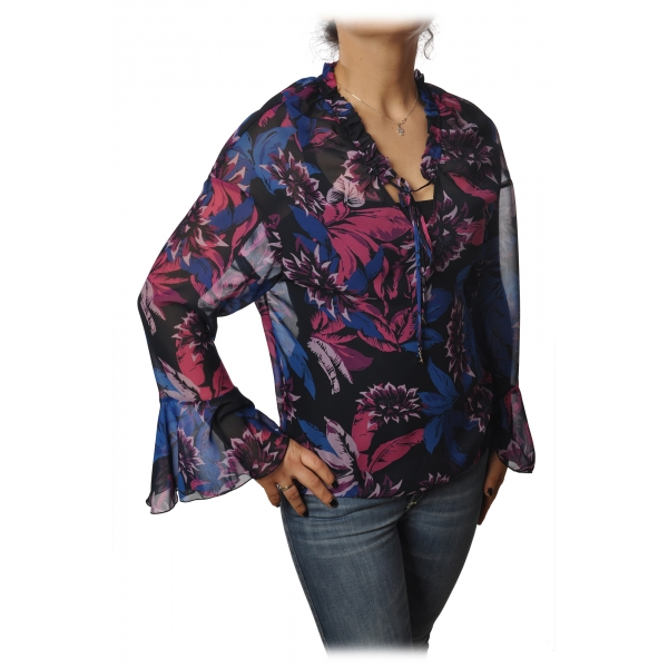 Patrizia Pepe - Shirt Blouse Model in Floral Pattern - Multicolor - Shirt - Made in Italy - Luxury Exclusive Collection