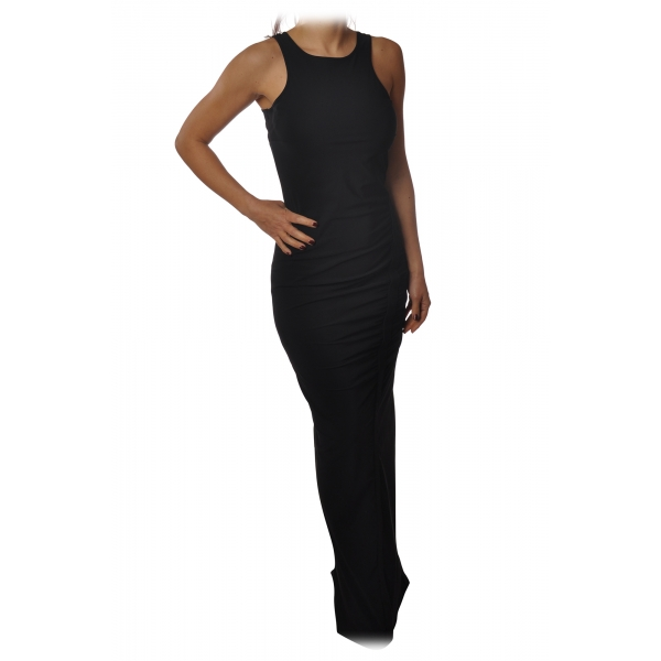 Patrizia Pepe - Close-Fitting Long Dress Sleeveless - Black - Dress - Made in Italy - Luxury Exclusive Collection