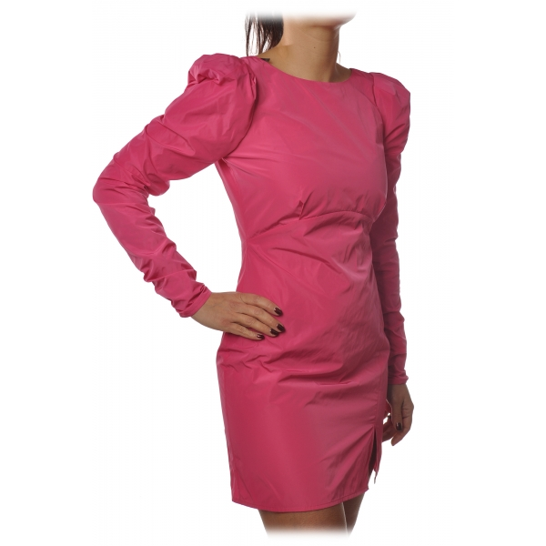 Patrizia Pepe - Sheath Short Dress with Puffed Shoulder Straps - Fuxsia - Dress - Made in Italy - Luxury Exclusive Collection