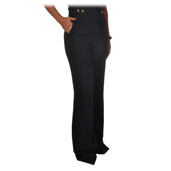Pinko - Trousers Sbozzare3 Wide Leg and High Waist - Black - Trousers - Made in Italy - Luxury Exclusive Collection