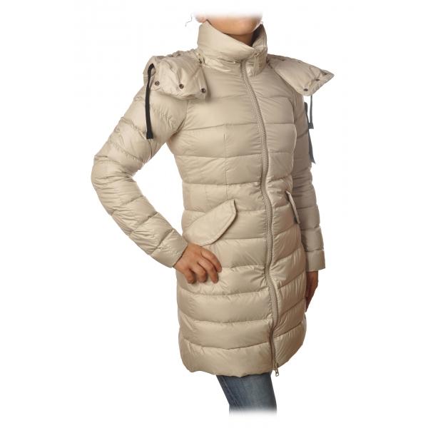 Peuterey - Fayola Jacket 3/4 Screwed Model - Cream - Jacket - Luxury Exclusive Collection