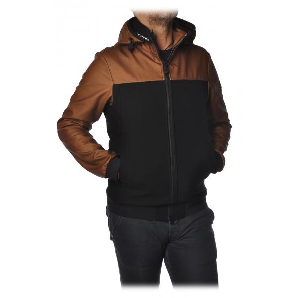 Peuterey - Santander Jacket Bomber Model with Hood - Black / Brown - Jacket - Luxury Exclusive Collection