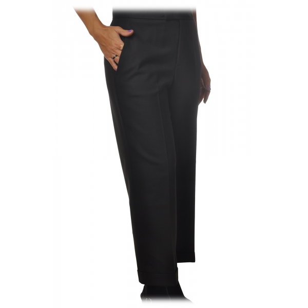 Twinset - Straight Leg Trousers America Pocket - Black -Trousers - Made in Italy - Luxury Exclusive Collection